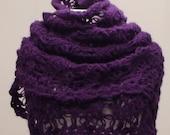 CLEARANCE! Purple Triangle Shawl