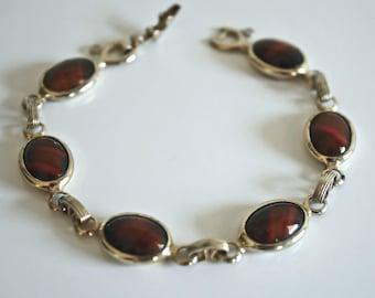 Vintage SARAH COVENTRY Wood Nymph Goldtone Bracelet