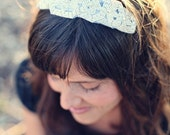 SALE - Silver Rhinestone and Beaded Headband - Bridal or Special Occasion