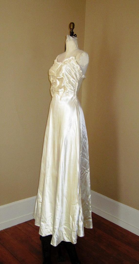 Items similar to creamy slipper satin 1930s vintage for Slipper satin wedding dress