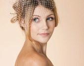 Bridal Birdcage Veil, Ready to Ship, Style 1110