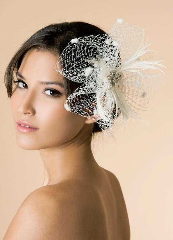 Sample Sale, Ready to Ship, Esperanza - Bridal Hair Fascinator Comb, 315
