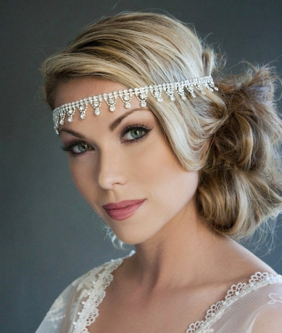 Ready to Ship, Sara - Rhinestone Headband, Bridal, Tiara, Wedding, head piece, 312