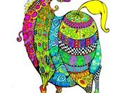 Cherubic Cheval Deux - Horse Print