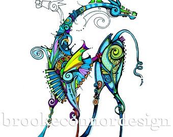 Animation Horse Print
