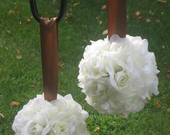 Cream/Ivory Silk Rose Pomander