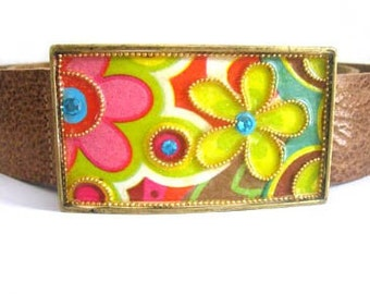 Belt Buckle - Women's Leather Belt - Women's Belt Buckle - Women's Buckle - Belt Buckle for Women - Colorful Buckle