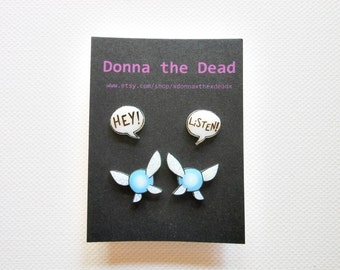 Hey Listen Navi post earrings set of two