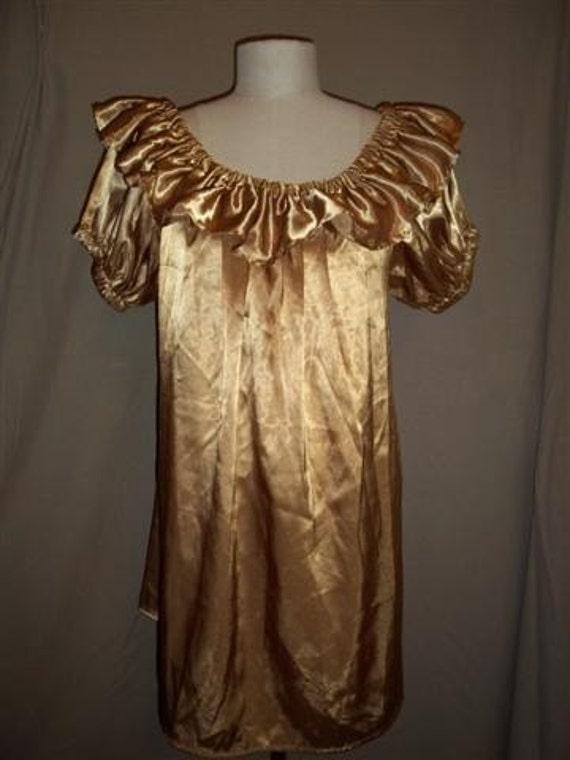 Short Sleeved Renaissance / Pirate Wench women's shirt - Gold, Size XXL