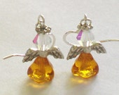 November Birthstone Angel Earrings
