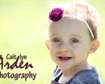 Baby Flower Headband - Newborn Headband - Several Colors Available - Purple Flower Headband - Toddler Headband