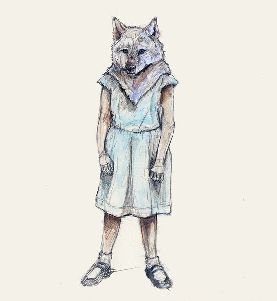 Little Wolf (faithful mate)- wolf print
