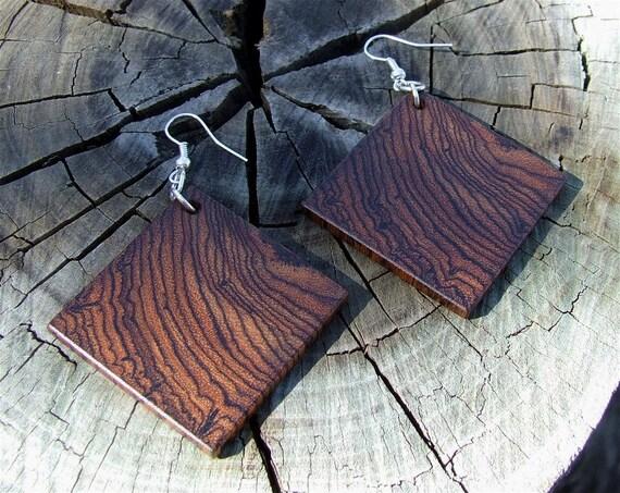 Handmade  Exotic Mexican Bocote Wooden Earrings