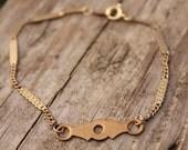 Aragon vintage brass bracelet