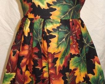 Autumn Leaves Girls Dress - Size 1