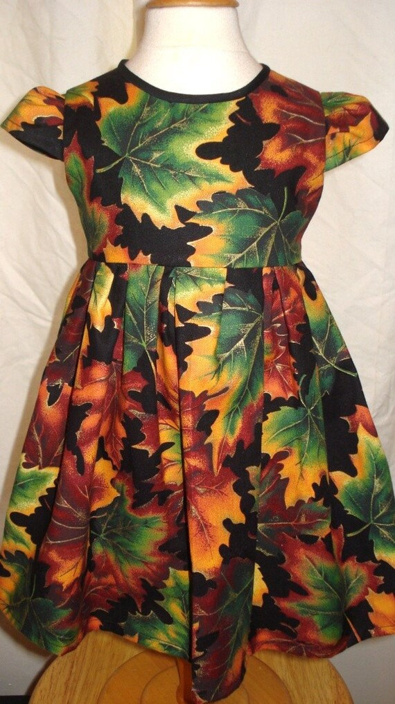 Autumn Leaves Girls Dress - Size 1