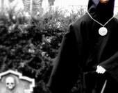 HALLOWEEN  black photograph HAUNTED HOUSE 5 X 7 fine art spooky ghost skull edgar allan poe