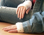 Fingerless Gloves Crocheted - Wrist Warmers, Hand Warmer, Texting Glove