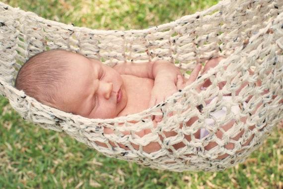 Crocheted Newborn Hammock Photo Prop - MADE TO ORDER