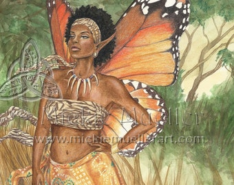 Aziza African Fairy Queen Open Edition Print