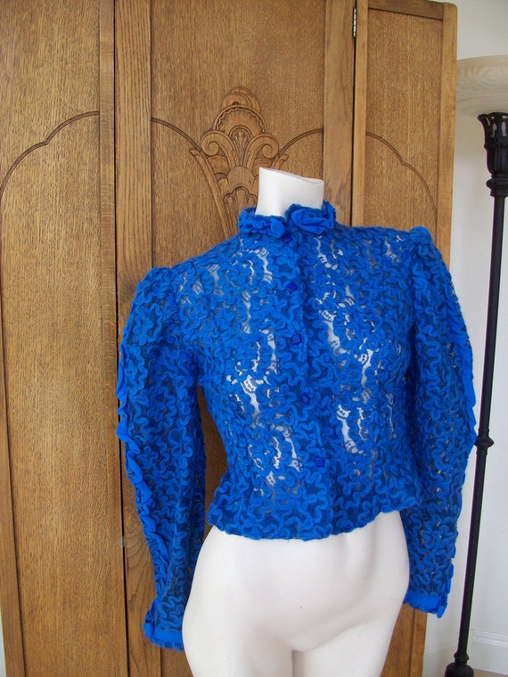 Vintage Victorian Style Lace  Jacket High Collar