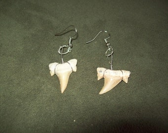 Shark tooth earrings native american made