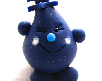 BLUEBERRY PARKER Figurine - Polymer Clay Character - Collectible Fruit Sculpture