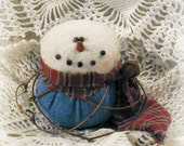 Primitive Blue Jeans Boy Snowbaby Ornament (medium) ~~ Primitive Christmas~~ Primitive Home Decor ~~ DTHFAAP ~~OFG Team ~~ Yule ~~ Winter