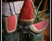 Primitive Watermelon Plant Pokes--Set of 3 ~~ Primitive Summer ~~ Primitive Home Decor ~~ Whimsy ~~ Cottage Chic ~~ FAAP ~~ OFG Team