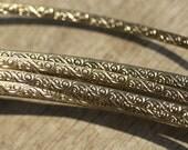Nickel Silver Ring Stock Shank 4mm Sm Flourish Textured Metal Cane Wire - Rings Bracelets Pendants Metalwork