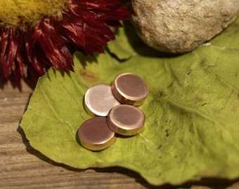 Copper Disc 14g 8mm Blank Cutout for Enameling Stamping Texturing - 6 pieces