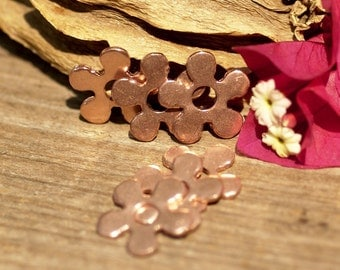Flower with Center 17mm for Blanks Enameling Stamping Texturing Variety of Metals