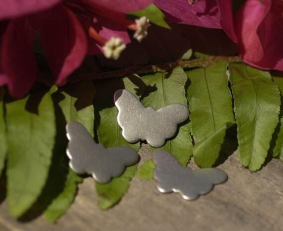 Nickel Silver Butterfly 22mm x 15mm Metal Blanks Shape Form