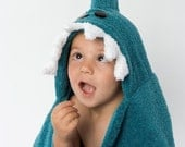PERSONALIZED Shark Hooded Towel