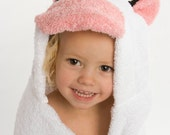 PERSONALIZED Cow Hooded Towel