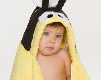 PERSONALIZED Bumble Bee Hooded Towel