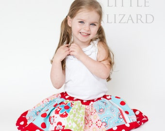 Girls Skirt Pattern, Easy Skirt Pattern, Twirl Skirt Pattern, Girls Twirl Skirt Pattern-  3m - 10, Little Girl Twirl