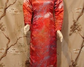 Hand Dyed SILK Asian Cheongsam Dress with QUILTED lining