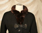ON HOLD - Suit with Mink Collar - Very Jackie Kennedy - I MAGNIN