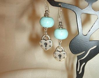 Lock Charm Earrings