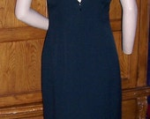 Stone Ferris Vintage Designer Black Evening Gown