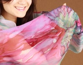 Custom hand painted silk scarf, wearable silk art, VIP service - I will create three new scarf designs for you!