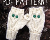 Pattern - Give A Hoot Fingerless Owl Mittens