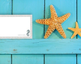 PRINTABLE Seahorse Notecard / Stationery
