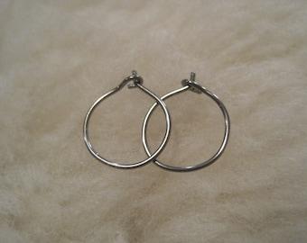 Relief Hoops - 20 gauge Niobium or Titanium Hoop Earrings - Nickel Free Hypoallergenic Earrings for Sensitive Ears