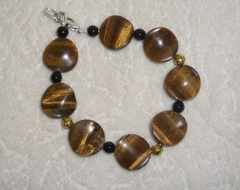 Handmade natural stone Tiger Eye Jewelry set