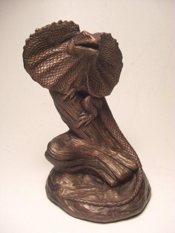 Frilled Dragon Lizard Sculpture