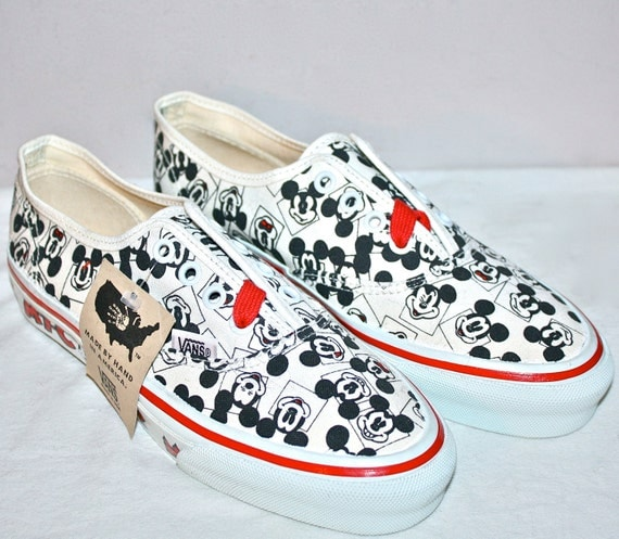 vans shoes disney mickey