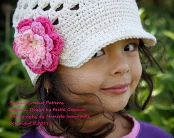 Crochet Hat Pattern - The Original Open Stitch Newsboy Cap Pattern No.301