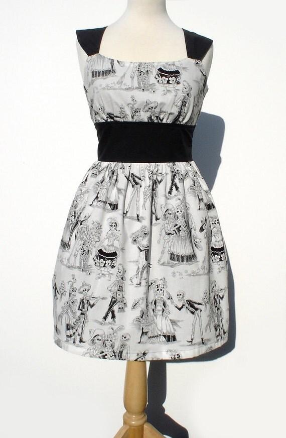 Day of the Dead / Mexican Dia de Los Muertos Inspired Retro Dress / Rockabilly Dress